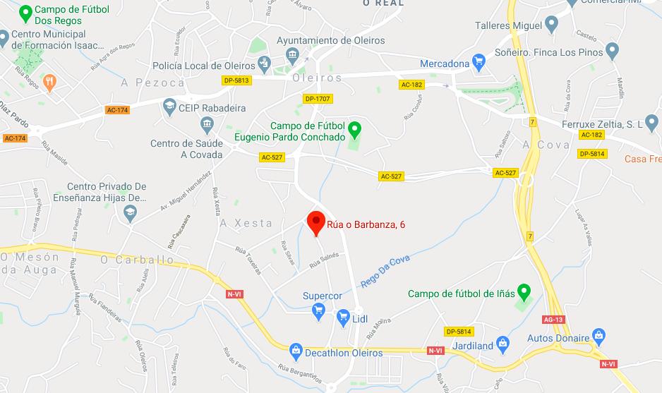 Mapa de ubicación de Radiospectrum